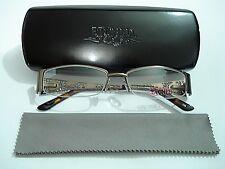 Zyloware Etched XP403M XP 403M 183 Lt Brown Rimless Eyeglasses Rx-Able Frame