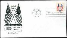 USA 1973 10c de première classe feuille FDC premier jour couverture #C 25660
