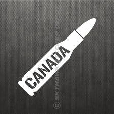 Canada Bullet Vinyl Decal Sticker Canadian Law Enforcement Armed Forces Car Bike