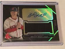 Brock Holt 2016 Topps Triple Threads 57/99 autograph jumbo Relic baseball card