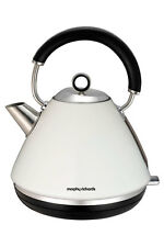 NEW Morphy Richards 102005 Accents Traditional Pyramid Kettle: White