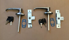 2 Chrome Lever Handle & Budget Lock / Latch for Catering Trailers Horsebox Coach