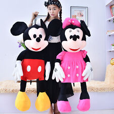 "Giant Size Pair Disney Mickey & Minnie Mouse Plush Doll Soft Stuffed Toy 39""H"
