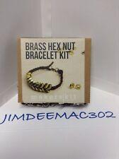 DIY-CRAFT Brass Hex Nut Bracelet Kit by Makers-kit NEW