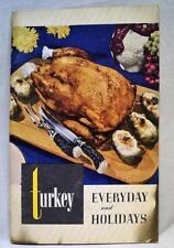 POULTRY & EGG NATIONAL BOARD TURKEY RECIPES BROCHURE BOOKLET VINTAGE COOKING