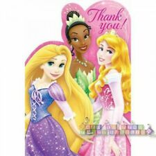 DISNEY PRINCESS Sparkle and Shine THANK YOU CARDS (8) ~ Birthday Party Supplies