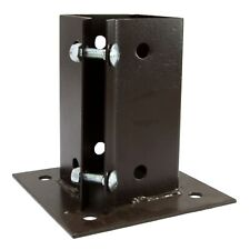 Bolt Down Fence Post Support Anchor Clamp Grip Epoxy Brown
