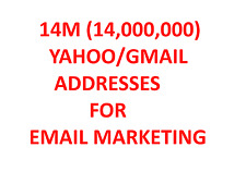 14M(14,000,000) YAHOO/GMAIL EMAIL ADDRESSES FOR EMAIL MARKETING -  BONUS EBooks