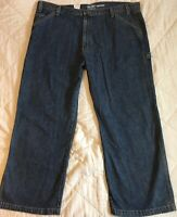 Levis Signature Carpenter Jeans 48 x 32 Relaxed Straight Leg Denim Blue