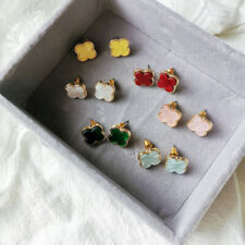 S925 Silver Pin  Simple Cool Vintage Resin Flower Earring