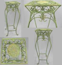Mesa de Flores Auxiliar Hierro Forjado Antik-Grün Cottagestil 55cm Alto / G