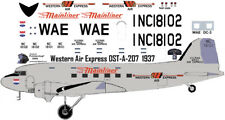 Western Air Express Douglas DC-3 decals for Testors Italeri 1/72 scale