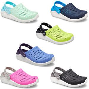 Crocs Childrens LiteRide Clogs Kids Summer Lightweight Junior Slip On Sandals