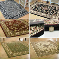 RED GREEN BEIGE GREY - SMALL TO EXTRA LARGE ELEGANT CLASSIC TRADITIONAL SOFT RUG