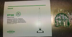 Orig.Vorwerk FP100 Akku Filtertüten +Motorschutzfilter