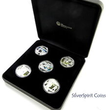 2011 HEROES & VILLAINS Five Coin Silver Proof Set