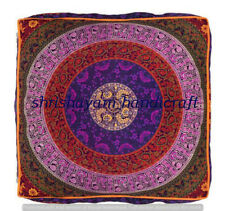 Extra Large Elephant Mandala Floor Cushions/ Dog bed Square Pillow Cover Indian