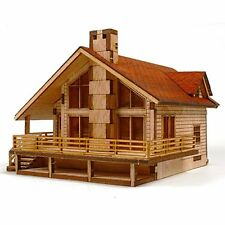 Garden House A with a large deck Wooden Model Construction Kit 3D Woodcraft