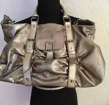 BOTKIER  Satchel Purse Bag Silver Pewter Metallic  $475