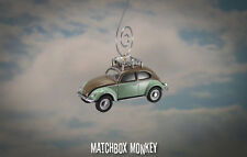 Classic Deluxe Volkswagen Beetle Custom Christmas Ornament VW Bug w/ Rack 1/64