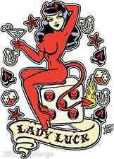 Lady Luck Sticker Decal Artist Vince Ray VR11 Roth Like