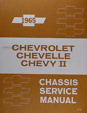 Best 1965 Chevy Shop Manual SS Impala Bel Air Biscayne Caprice Chevrolet Service