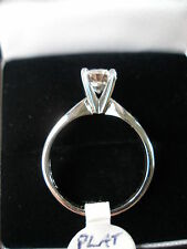 1 CARAT BRILLIANT CUT PLATINUM SINGLE STONE DIAMOND RING & GRADING CERTIFICATE