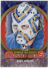 Denis Herron 2012-13 ITG Between The Pipes Masked Men 5 Silver Card /50 *J715