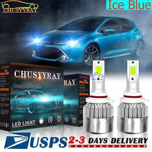 2 uds 9006 bombilla LED luz cruce For Toyota Corolla 1993-2013 azul hielo 8000K