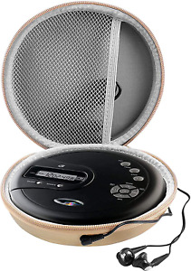 Portable CD Player Compatible Case Rechargeable Personal Compact Gold CASE ONLY-