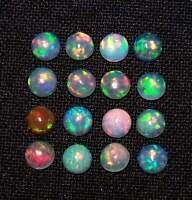AAA+ Grade Quality Opal Cabochon Gemstone 4.10 Carat Multi fire Opal Round Shape Gemstone Natural Opal Ring Size Gemstone 11x5 mm