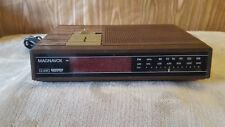 Vintage Magnavox Clock Radio Alarm Model D3240 / 17 Tested Brown Stimulated Wood