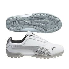 Puma TitanTour V2 JR Junior Golf Shoes  #8699 White/Limestone Gray - SIZE - 7