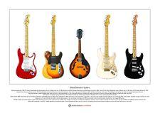 David GILMOUR il famoso chitarre Limited Edition fine art print Taglia A3