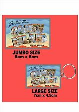 Coney Island New York City  Key Ring & Fridge Magnet Set