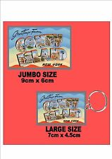 Coney Island New York City  Key Ring & Fridge Magnet Set
