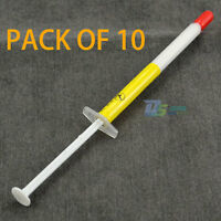10 Piece x 1g Syringe Thermal Grease White CPU Heat Sink Thermal Paste Compound