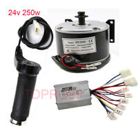 24V 250W Electric Motor Speed Controller Throttle Grips fr E Scooter Bicycle ATV
