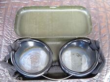 original Militär    Dienstbrille  Schutzbrille Staubbrille D.R.P. im Kasten