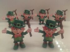 Smurf lot - 6 Lucky Leprechauns by W. Berrie - 1980 - RARE Vintage Figurines