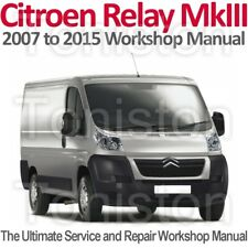 Citroen Relay/Jumper Mk3 2007 to 2015 Workshop, Service and Repair Manual on CD