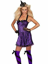 Ann Summers Bewitched Witch Fancy Dress Costume Purple Halloween Party Sz 8