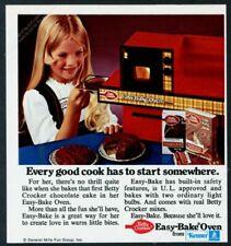 1973 Easy Bake Oven happy girl cake photo Kenner vintage print ad