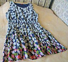 Dark blue soft cotton dress by JOE BROWNS Size 20-22 Tulip print