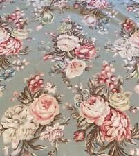 "Ralph Lauren ""Charlotte"", Sage Green Floral, Full Flat, Blue Label USA"