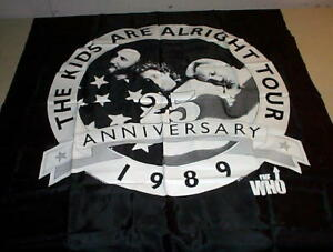 THE WHO 1989 Vintage Kids Are Alright Tapestry Banner
