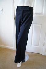 Ann Taylor Jet Black Wool Cotton Blend Dress Pants Slacks Trouser SZ 14 x 32