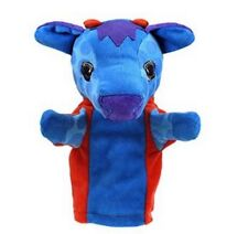 PUPPET COMPANY Plush HAND PUPPET Soft Toy BLUE COW | Newborn Gift