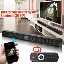 Wireless Bluetooth Soundbar Speaker/Audio Sound Bar Radio Optical RCA W/ 8 Horns