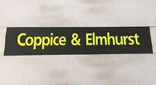 "Scania Bus Destination Blind 36""- Coppice & Elmhurst"